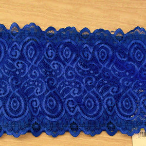 Seamless Lace Bandeau Bra Bralette M L Royal Blue